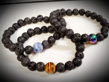 Selling with online payment: Lava Stone & Diffuser Bracelet
