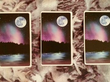 Selling: Moonology Lunar Card Reading: 3 Card Spread. - MYSTIC ROSE
