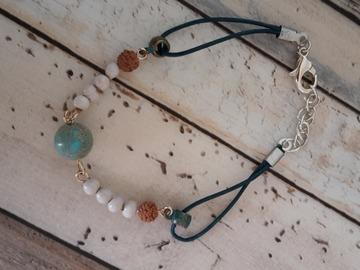 Vente au détail: Bracelet graines et minéral