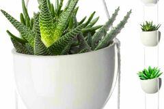 Buy Now: (10) 4 Tier Plant Hanging Holder Ceramic Planters Herb Garden