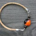 Vente au détail: Bracelet liège et graines