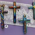 Selling with online payment: Dichroic Glass Crosses