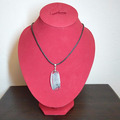 Vente au détail: collier transparent corail bleu