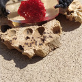 Vente au détail: Bracelet transparent corail rouge