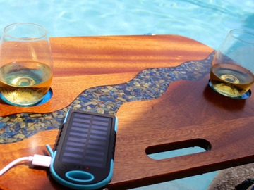 Selling with online payment: Solar Charging Beach Table - Lapis River