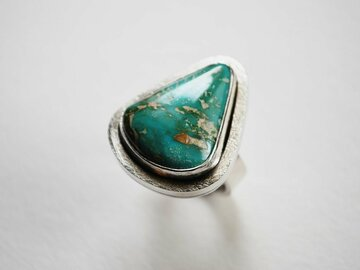 Selling: Refreshed Mind -  Sterling and Turquoise Ring