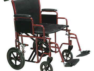 SALE: Bariatric Steel Transport Chair