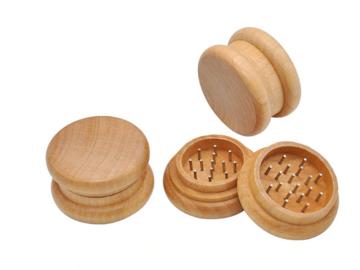 Post Products: Wooden Herb Grinder 54MM 2 Parts Herb Grinder