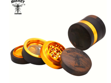Post Products: HORNET Handmade Wood Herb Grinder 60 MM 4 Layers