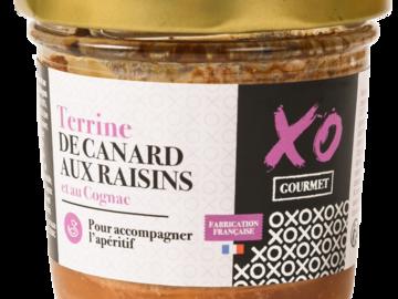 Vente avec paiement en ligne: Terrine de Canard aux Raisins et au Cognac