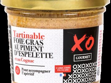Vente avec paiement en ligne: Tartinable Foie Gras au Piment d'Espelette et Cognac
