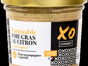 Vente avec paiement en ligne: Tartinable Foie Gras au Citron et au Cognac