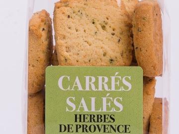 Vente avec paiement en ligne: Carrés salés Herbes de Provence