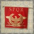 Vendre: SPQR Banner: senatus populusque romanus