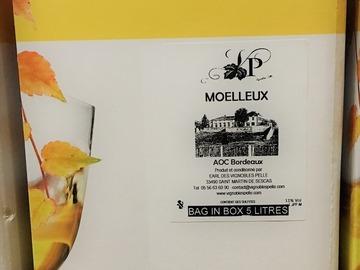 Vente avec paiement en direct: BIB 5L Vin Blanc Moelleux
