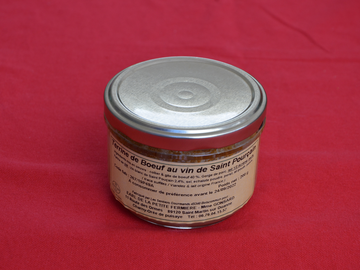 Vente avec paiement en direct: Terrine de boeuf au vin de Saint Pourçain