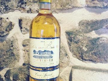 Vente avec paiement en direct: Sauternes - Château Briatte - Fût de Chêne 2015