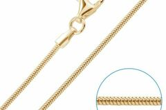Buy Now: 100 Pcs Snake Chains 14 kt Gold Plated Made in the USA- 18 inch