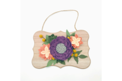 Selling: Purple and Peach Felt Floral Wall Hanging