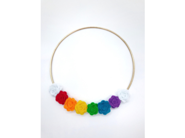 Selling: Felt Flower Rainbow Wreath