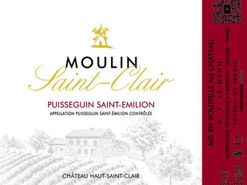 Vente avec paiement en direct: Moulin Saint Clair  Puisseguin Saint Emilion  2016