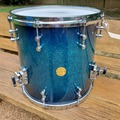Selling with online payment: Gretch New Classic 14x14 fl tom Ocean Blue Sparkle Burst Lacquer