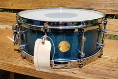Selling with online payment: Gretsch New Classic 5.5 x 14 Snare Ocean Blue Sparkle Burst
