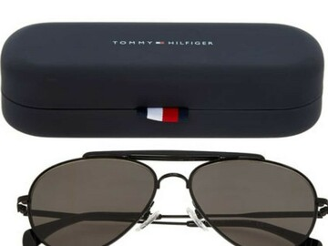 For Sale: Tommy Hilfiger Black Aviator Sunglasses (Unisex)