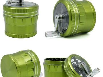 Post Products: Herb Grinder With Handle Aluminium Alloy Smoking Grinders 5 Color