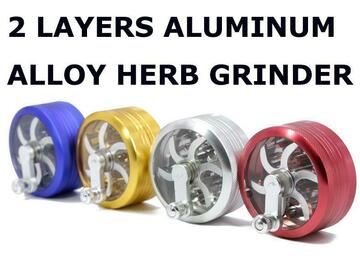 Post Products: 2 Part 63mm Aluminium Alloy Hand Grinders Herb Grinder Spice Poll