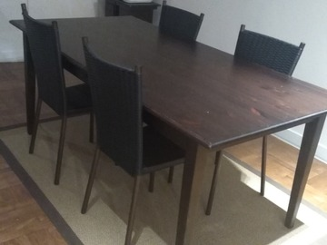Giving away: Solid wood dining table