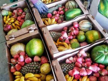 Vente avec paiement en direct: Colis de fruits