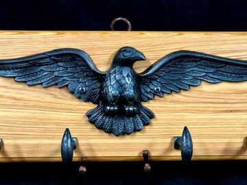 Selling with online payment: Cast Iron Eagle and Sinker Cypress Coat Rack