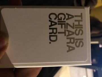 Vente: Carte cadeau Zara (110€)