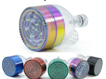 Post Products: Funnel Maze Grinders New Style Multi Colors Zinc Alloy Herb Grind