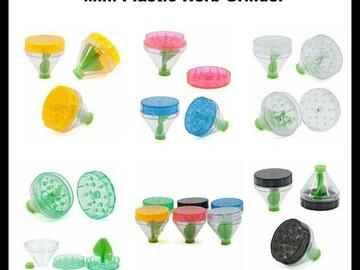 Post Products: Mini Plastic Herb Grinder Diameter 50mm 3 parts 6 colors Assorted