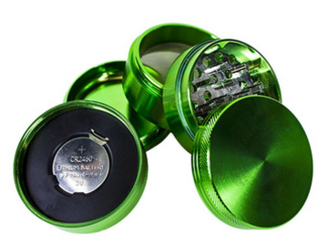 Post Products: Electric Metal Herb Grinder 55mm Herb Spice Crusher Aluminum Allo