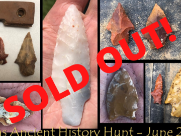 Offering with online payment: Texas Ancient History Hunt 2020