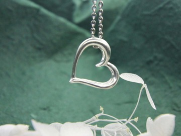 : silver heart pedant