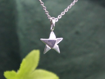 : tangram silver star pendant