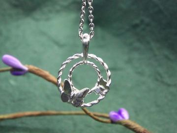 : twin butterfly pendant