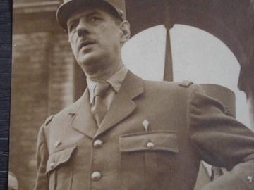 Vente: Photo portrait du Général de Gaulle