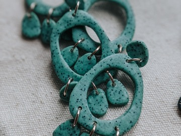 Selling: Mint Chocolate Chip Boho Ophelia Earrings