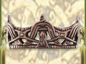 Venta con derecho de desistimiento (vendedor comercial): Locket for Viking Sword Scabbard, Antiqued Brass