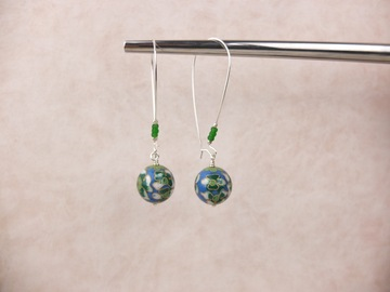 Selling with online payment: Cloisonne Long Drop Earrings