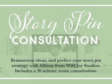 Offering online services: Reach more Audience NOW with Story Pins - Consultation w/ Allison
