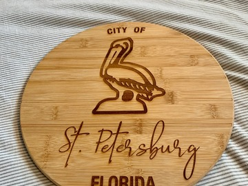 Selling with online payment: St Petersburg Themed Cutting Board