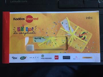 Vente: Chèques cadeaux Edenred Kadéos Infini 2 (340€)