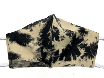 Selling with online payment: Black & Tan Tie Dye Cotton Face Mask