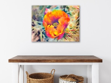 Selling with online payment:  Cactus Blossom 16x20 Canvas